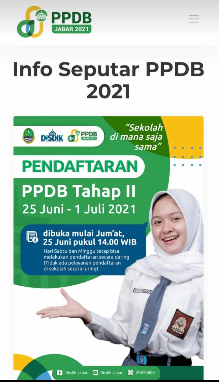 Informasi PPDB Tahap 2 - Zonasi